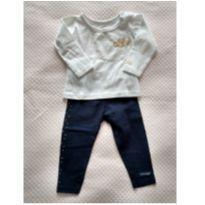 Conjuntinho legging + camiseta manga longa Lilica Ripilica - tam 6/9m - 6 a 9 meses - Lilica Ripilica Baby
