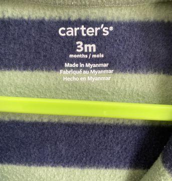 Macacão Carter`s fleece com aplique caminhão - tam 3m - 0 a 3 meses - Carter`s