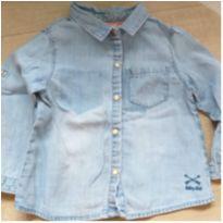 camisa jeans baby - 9 a 12 meses - Zara Baby