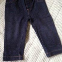 Legging em algodão que imita calça jeans - 6 a 9 meses - Carter`s