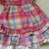 Vestido xadrez com anágua branca - 12 a 18 meses - Zara Baby