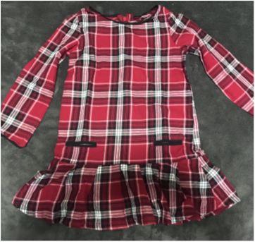 Vestido ML xadrez de vermelho e preto - 4 anos - GAP