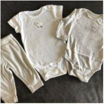 Kit body ML + body MC + calça - 3 meses - Carter`s