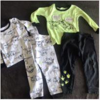 kit com 2 pijamas manga longa