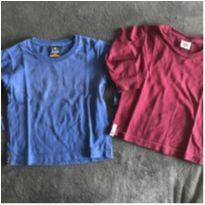 Kit com 2 camisetinhas manga longa - 2 anos - Tholokko