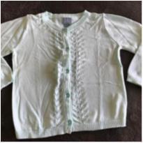 Blusa de fio cinza + casaquinho de fio verde água - 2 anos - Baby Gap