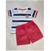 Conjunto Masculino Camiseta e Bermuda - Tam. M - 6 meses - Brandili