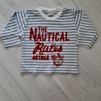 Camiseta Manga Longa. Tam. G - 9 a 12 meses - Basic + Baby