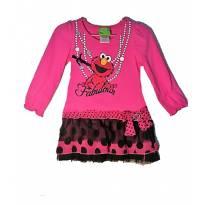 Vestido Rosa com Tutu acoplado - 2 anos - Sesame Street