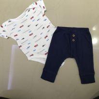 Conjunto body e calça - 3 meses - Carter`s