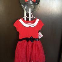 Lindo vestido Minnie com tiara - 4 anos - Disney