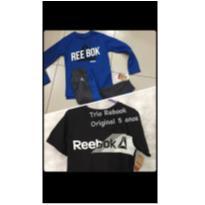 Novo: Conjunto blusa, calça, camiseta - 5 anos - Rebook