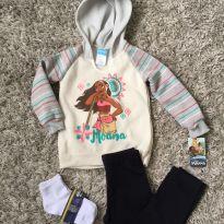 Blusa original Moana+calça e 2 meias - 4 anos - Disney