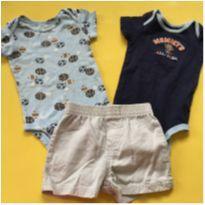 Trio 2 body e 1 shorts - 9 meses - Lamaze