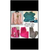 Novo: 5 peças, moletons e calças - 24 a 36 meses - Garanimals e Wonder Kids - USA