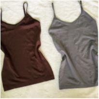 2 blusinhas de alcinha adulto - M - 40 - 42 - Outros