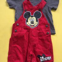 Jardineira com camiseta do Mickey - 1 ano - Disney