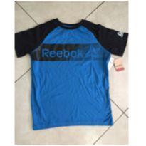 Camiseta nova azul - 13 anos - Rebook