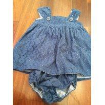 Vestido azul Petit Bebe - 1 ano - petit bebe