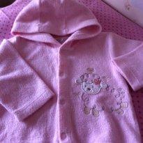 Casaco rosa felpudo com capuz Alô Bebê! Inverno! - 9 a 12 meses - Alô bebê