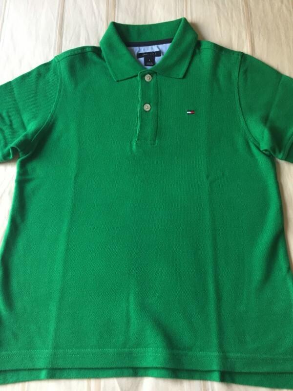 cb79dcee87d1d Camisa polo Tommy Hilfiger verde 6 anos no Ficou Pequeno - Desapegos ...