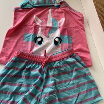 Pijama unicórnio com tapa olho - 14 anos - Não informada