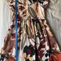Vestido Zara tecido florido - 9 anos - Zara