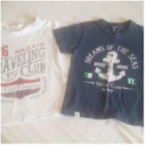 Kit 2 camisetas manga curta - 24 a 36 meses - Tip Top e Tyrol
