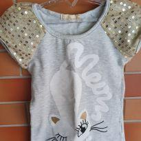Camiseta Gata Arte Menor - 4 anos - Arte Menor