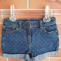 Shorts Jeans Poá Importada - 6 anos - Importada