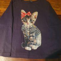 Camiseta Zara Gatinha - 5 anos - Zara