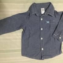 Camisa jeans Carter's manga longa tamanho 9 meses - 9 meses - Carter`s