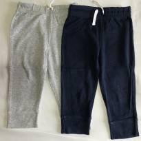 Kit 2 calças de malha Carter's tamanho 12 meses - 1 ano - Carter`s