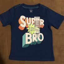 Camiseta Carter's azul manga curta tamanho 18 meses. Novíssima! - 18 meses - Carter`s