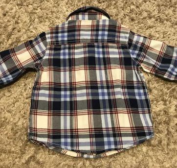 Camisa social Carter's xadrez manga longa tamanho 12 meses - 1 ano - Carter`s