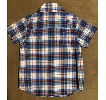 Camisa social Carter's xadrez manga curta tamanho 18 meses - 18 meses - Carter`s