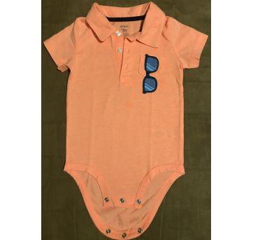 Body Carter's malha manga curta tamanho 18 meses - 18 meses - Carter`s