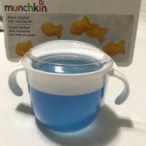 Porta biscoito Munchkin cor azul e branco - Sem faixa etaria - Munchkin