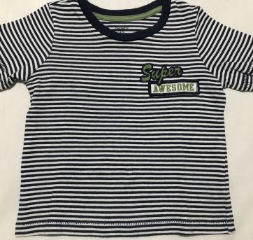Camiseta Carter's de malha listrada manga curta tamanho 12 meses - 1 ano - Carter`s