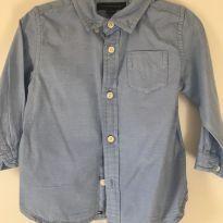 Camisa social Tommy Hilfiger 18 meses - 18 meses - Tommy Hilfiger