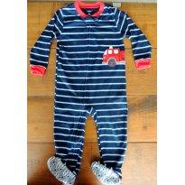Pijama de Algodão com Pé, Ótimo para Primavera - 3 anos - Carter`s