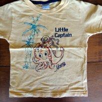 Camiseta Manga Curta  Amarela Verão - 3 anos - Desayner