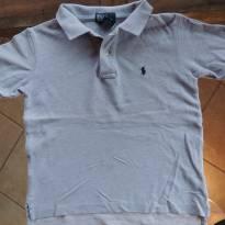 Camiseta Polo de Algodão Cinza Polo Ralph Lauren - 5 anos - Polo