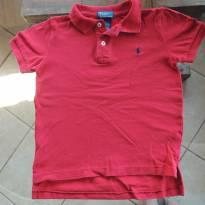 Camiseta Polo de Algodão Vermelha Polo Ralph Lauren - 5 anos - Polo