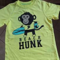 Camiseta Algodão Amarelo Fluorescente - Macaco - Importada - 3 anos - Carter`s