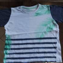 Camisa de Algodão Branca e Azul Marinho - Estilo Praia - 3 anos - Fuzarka