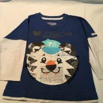 Camiseta Tigor - 2 anos - Tigor T.  Tigre