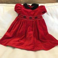 Vestido Veludo - 18 meses - Hartstrings