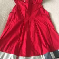 Vestido vermelho burberry - 2 anos - Burberry inspired