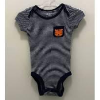 Body Carters listrado tigre - 0 a 3 meses - Carter`s e carter`s, baby gap, zara